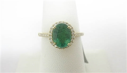 14K EMERALD AND DIAMOND RING 1.94 C.T.W.