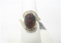 14K OPAL AND DIAMOND RING 3.30 C.T.W.