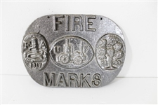 PEWTER FIRE MARKS PLAQUE