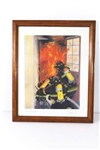 "ARTIST SIGNED FRAMED PRINT OF ""ON THE NOZZLE"""