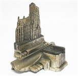 VINTAGE CATHEDRALE DE REIMS METAL INKWELL