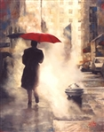 DEL ORFANO ** WALKING HOME ** SIGNED CANVAS