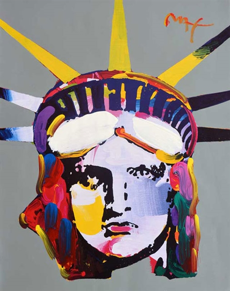 MAX ** LIBERTY HEAD ** SIGNED MIXED MEDIA ORIGINAL