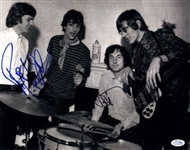 Pink Floyd Waters And Mason Autographed Signed B/W 11x14 Photo