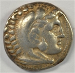 ALEXANDER THE GREAT GREEK SILVER TETRADRACHM 315-294 BC
