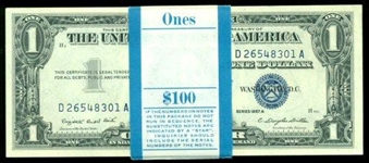 SUPERB GEM CU PACK OF 100 1957-A SERIES $1 SILVER CERTIFICATES