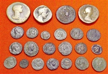 GREAT LOT OF 23 ASSORTED ROMAN BRONZES, 2nd-4th CENTURY
