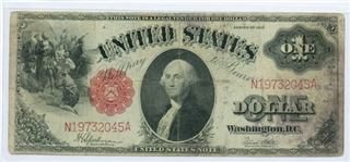 1917 $1 LEGAL TENDER UNITED STATES RED SEAL NOTE