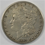 RARE 1889-CC MORGAN SILVER DOLLAR WITH VF/XF DETAILS