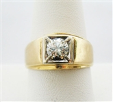 14K MENS DIAMOND RING WITH  .75 CT. VS QUALITY DIAMOND SOLITAIRE