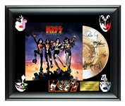 Kiss Facsimile Autographed Destroyer Gold Record Award