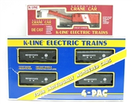 GROUP OF K-LINE ELECTRIC TRAIN CARS