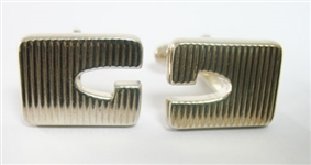 STERLING SILVER  GUCCI CUFFLINKS