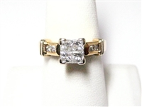 1 CT DIAMOND 14K GOLD RING