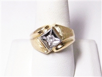 .25 CT DIAMOND 14K VINTAGE MENS RING