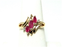 .45 CT RUBY & DIAMOND RING