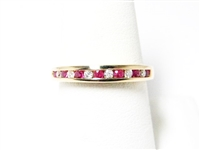 .40 CT RUBY & DIAMOND ROSE GOLD RING