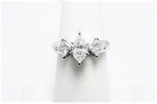 1.23 CT DIAMOND CERTIFIED 14K WG RING