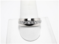 1 CT DIAMOND WIDE & HEAVY 14K WG MENS RING