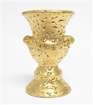 22K WEEPING BRIGHT GOLD VASE