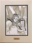 CHAGALL *ANGEL* MATTED LITHOGRAPH