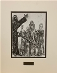 CHAGALL *JOSHUA  AND THE KINGS OF CANAAN* MATTED HELIOGRAVURE