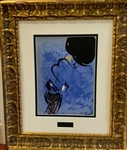 CHAGALL *MOSES RECEIVING THE TEN COMMANDMENTS* FRAMED LITHOGRAPH