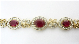 14K RUBY AND DIAMOND BRACELET 9.34 C.T.W.