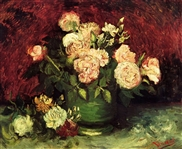 VAN GOGH ** BOWL WITH PEONIES AND ROSES