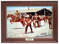 "FRANKLIN MINT FREDERIC REMINGTON ""COMING AND GOING OF THE PONY EXPRESS"""