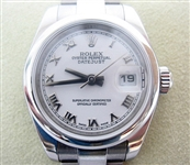 ROLEX LADIES STAINLESS STEEL QUICKSET DATEJUST, NEWEST STYLE BY ROLEX