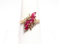.75 CT RUBY & DIAMOND 14K YG RING