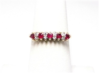 14K YG .35 CT RUBY & DIAMOND RING