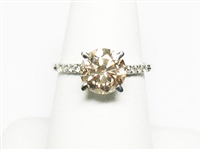14K DIAMOND RING WITH 2.18 CT DIAMOND, 2.33 C.T.W.