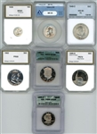 WHOLESALE DEALER LOT OF 7 DIFFERENT CERTIFIED COINS (ANACS, ICG, PCI)