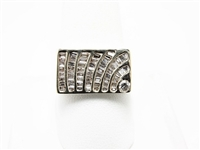 1.25 CT DIAMOND 14K MENS HEAVY MODERN RING