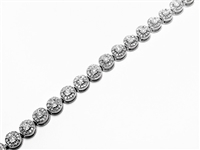 3 CT DIAMOND CIRCLE LINK GOLD TENNIS BRACELET