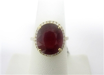14K RUBY AND DIAMOND RING 8.81 C.T.W.