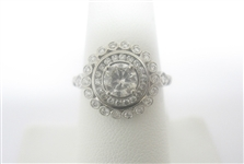 PLATINUM DIAMOND RING 1.10 C.T.W.
