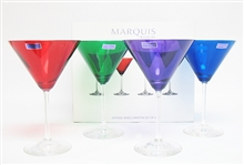 SET OF 4 WATERFORD COLORED GLASSES