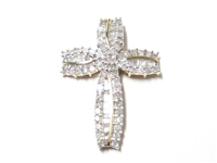 1.25 CT DIAMOND MODERN GOLD CROSS