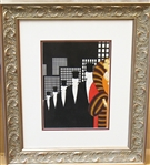 ERTE ***TOP HATS *** FRAMED PRINT
