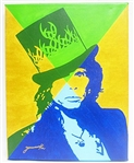 JARVINSKI *** STEVEN TYLER IN GOLD ***  SIGNED CANVAS