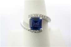 14K TANZANITE AND DIAMOND RING 1.74 C.T.W.
