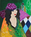 TARKAY ** ERIKA IN A HAT ** SIGNED SERIGRAPH