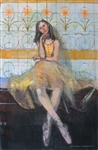 ZWARENSTEIN ** LITTLE BALLERINA ** ORIGINAL OIL