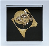 IOANNIS BARDIS **THE MASK OF HERMES** ORIGINAL GOLD-PLATED SCULPTURE