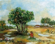 COJENEL ELENA **COUNTRY SCENERY** ORIGINAL PAINTING ON CANVAS