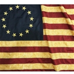 DECORATIVE VINTAGE BETSY ROSS 13 STARS AMERICAN FLAG