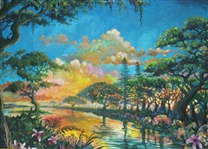 WAKEFIELD **GOLDEN GLADES INLET** ORIGINAL OIL ON CANVAS